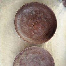 Antiguidades: PAREJA PLATOS PARA BALANZA EN BRONCE. Lote 246116405