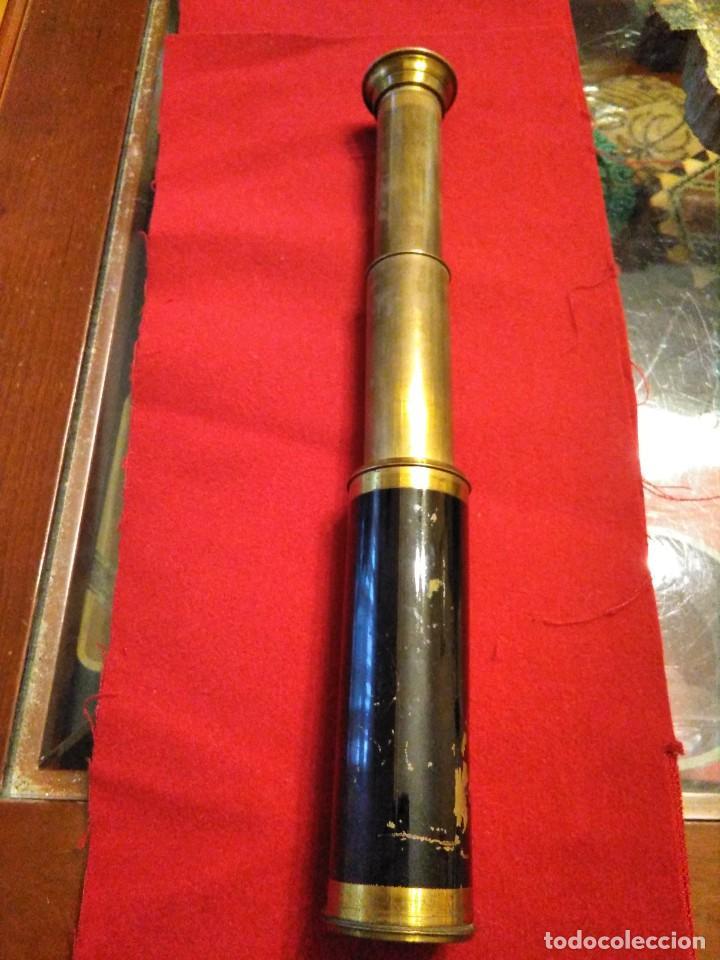 CATALEJO TELESCOPIO CAMPAÑA ANTIGUO MILITAR (Antigüedades - Técnicas - Instrumentos Ópticos - Catalejos Antiguos)