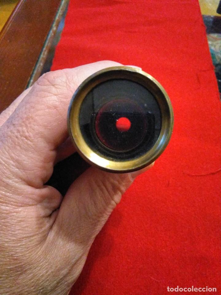 Antigüedades: CATALEJO TELESCOPIO CAMPAÑA ANTIGUO MILITAR - Foto 6 - 246139770