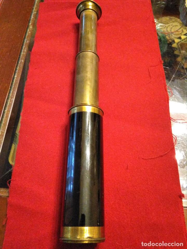 Antigüedades: CATALEJO TELESCOPIO CAMPAÑA ANTIGUO MILITAR - Foto 7 - 246139770