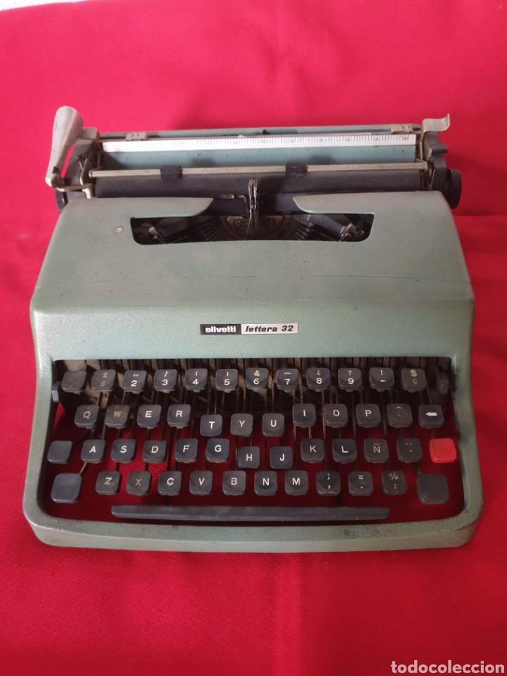 ANTIGUA MAQUINA ESCRIBIR OLIVETTI LETTERA 32 (Antigüedades - Técnicas - Máquinas de Escribir Antiguas - Olivetti)