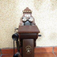 Teléfonos: ANTIGUO TELÉFONO L.M. ERICSSON & CO. - STOCKHOLM. DEL AÑO 1916, (TIENE MAS DE 100 AÑOS). Lote 246314455