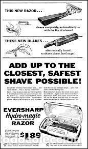 Antigüedades: Coleccionable maquinilla de afeitar Eversharp Hydro-magic USA años 50 estuche original - Foto 7 - 246334870