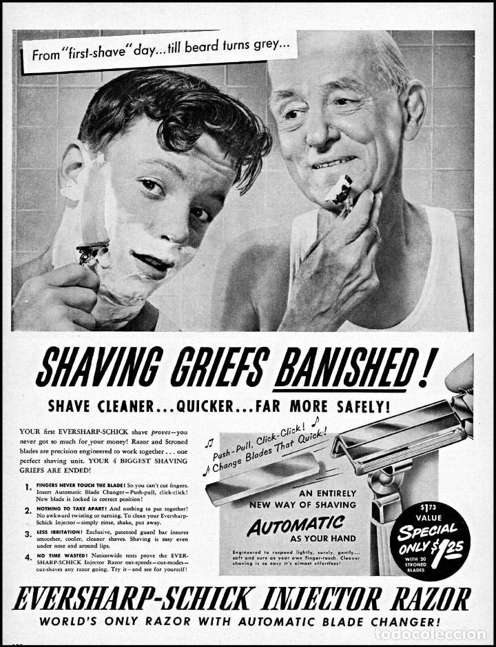 Antigüedades: Coleccionable maquinilla de afeitar Eversharp Hydro-magic USA años 50 estuche original - Foto 8 - 246334870