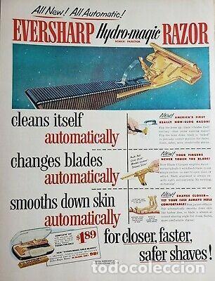 Antigüedades: Coleccionable maquinilla de afeitar Eversharp Hydro-magic USA años 50 estuche original - Foto 9 - 246334870