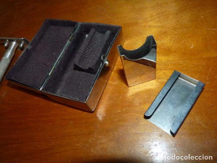 Antigüedades: Rara maquinilla afeitar Gillette SINGLE RING ?? principios XX caja metal DIAMOND ARROW marca G - Foto 4 - 246348005