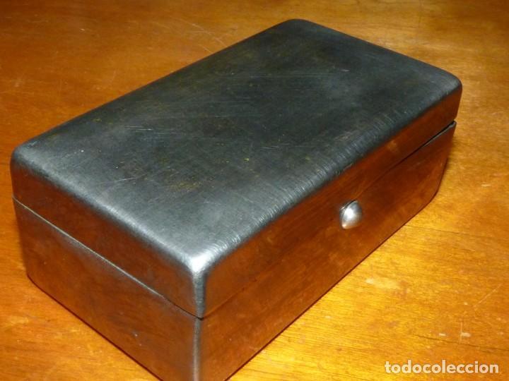 Antigüedades: Rara maquinilla afeitar Gillette SINGLE RING ?? principios XX caja metal DIAMOND ARROW marca G - Foto 6 - 246348005