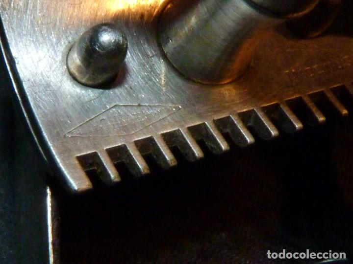 Antigüedades: Rara maquinilla afeitar Gillette SINGLE RING ?? principios XX caja metal DIAMOND ARROW marca G - Foto 9 - 246348005