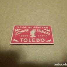 Antigüedades: HOJA DE AFEITAR , GLADIATOR TRINIDAD , ACERO EXTRA , TOLEDO. Lote 246427195