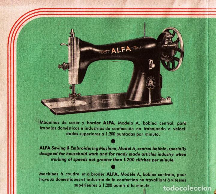 Antigüedades: Máquina de coser Alfa, modelo A o 20 - Fabricada en Éibar años 50 - Foto 27 - 246434545