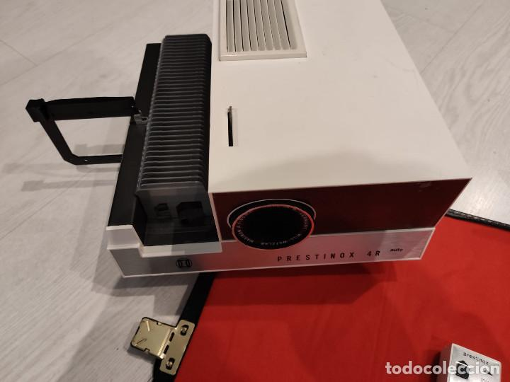 Antigüedades: Proyector diapositivas Prestinox 4r auto - Foto 2 - 246477140