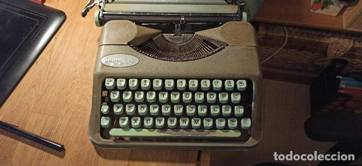 Antigüedades: Máquina de escribir Hermes Baby - Foto 5 - 246565730