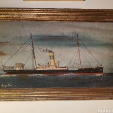 """Antiquités: CUADRO EN RELIEVE DE BUQUE """"ARGELIA"""".. Lote 246695105"""