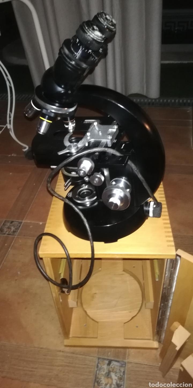 Antigüedades: Antiguo microscopio zeiss carl en su caja original - Foto 2 - 246818920