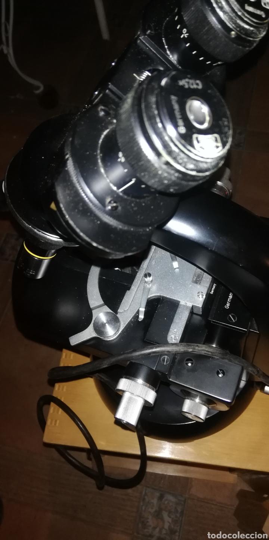 Antigüedades: Antiguo microscopio zeiss carl en su caja original - Foto 3 - 246818920