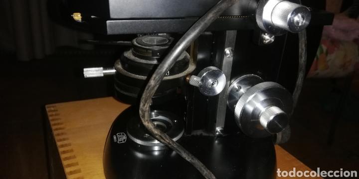 Antigüedades: Antiguo microscopio zeiss carl en su caja original - Foto 4 - 246818920