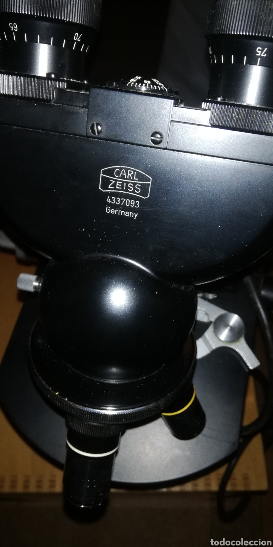 Antigüedades: Antiguo microscopio zeiss carl en su caja original - Foto 5 - 246818920
