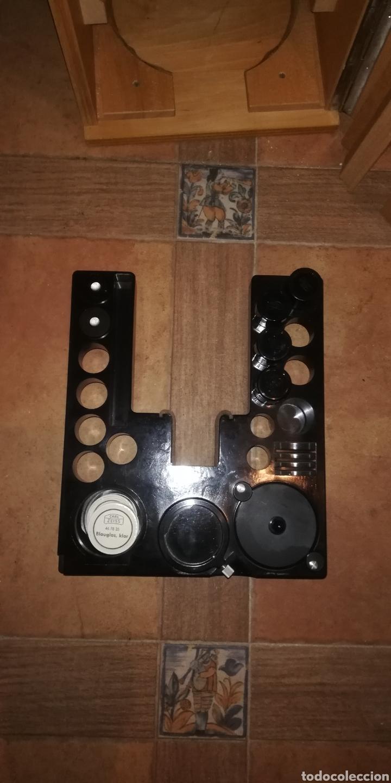 Antigüedades: Antiguo microscopio zeiss carl en su caja original - Foto 6 - 246818920