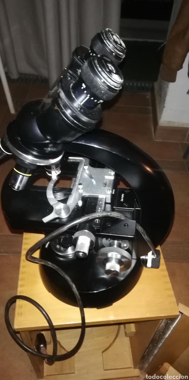 Antigüedades: Antiguo microscopio zeiss carl en su caja original - Foto 7 - 246818920