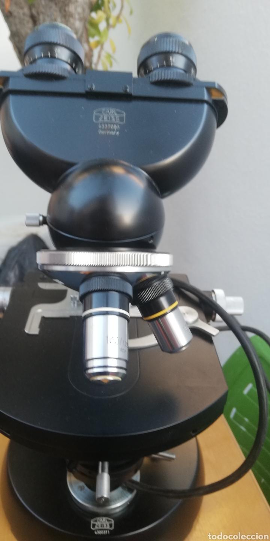 Antigüedades: Antiguo microscopio zeiss carl en su caja original - Foto 8 - 246818920