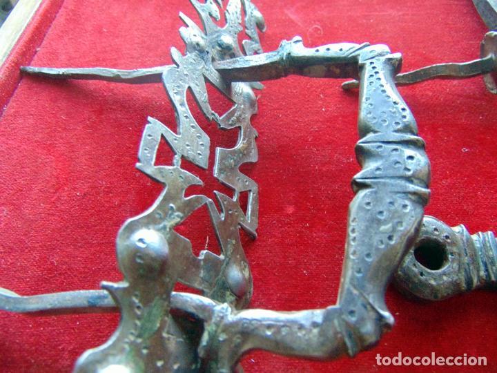 Antigüedades: Espectacular herraje de portón, zoomorfo siglo XVII, hierro forjado completo , ver fotos - Foto 4 - 246935290