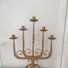 Antigüedades: CANDELABRO DE FORJA. Lote 247106810
