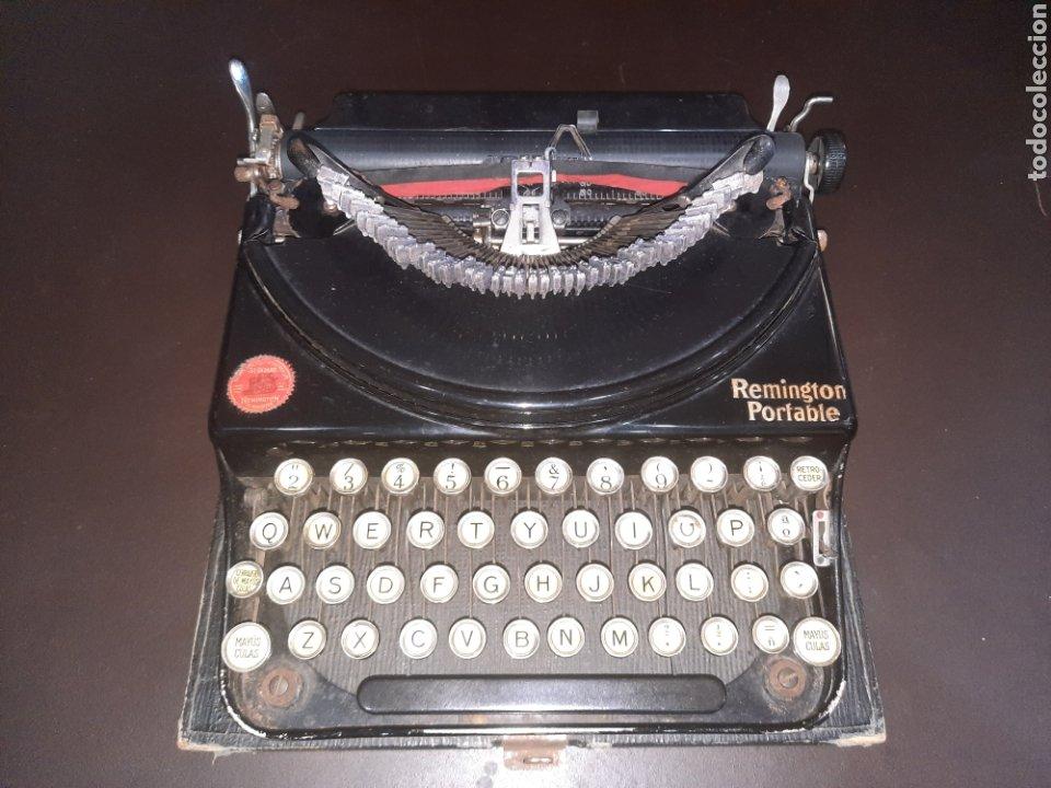 REMINGTON PORTABLE,CON SU TAPA. (Antigüedades - Técnicas - Máquinas de Escribir Antiguas - Remington)