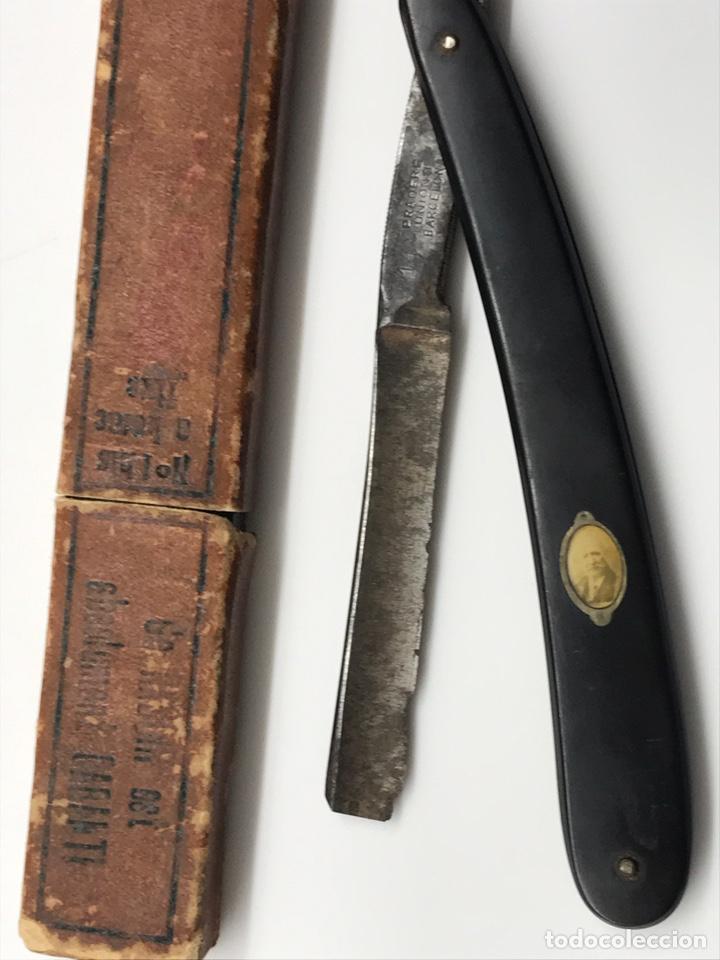 Antigüedades: Antigua navaja de colección con foto Pradere 1850 - Foto 2 - 247418775