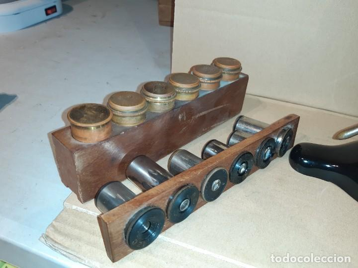 Antigüedades: Antiguo microscopio científico - Foto 2 - 247589290