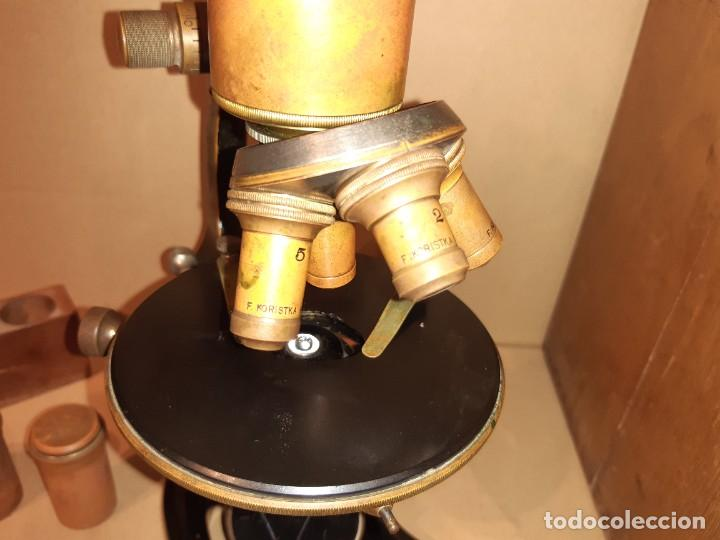 Antigüedades: Antiguo microscopio científico - Foto 3 - 247589290