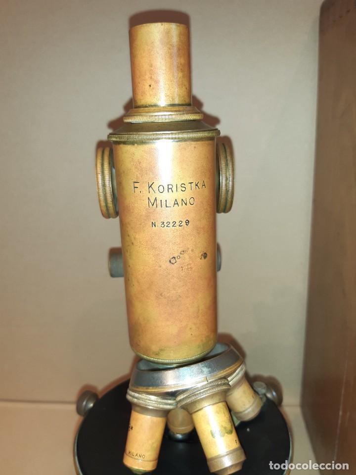 Antigüedades: Antiguo microscopio científico - Foto 17 - 247589290