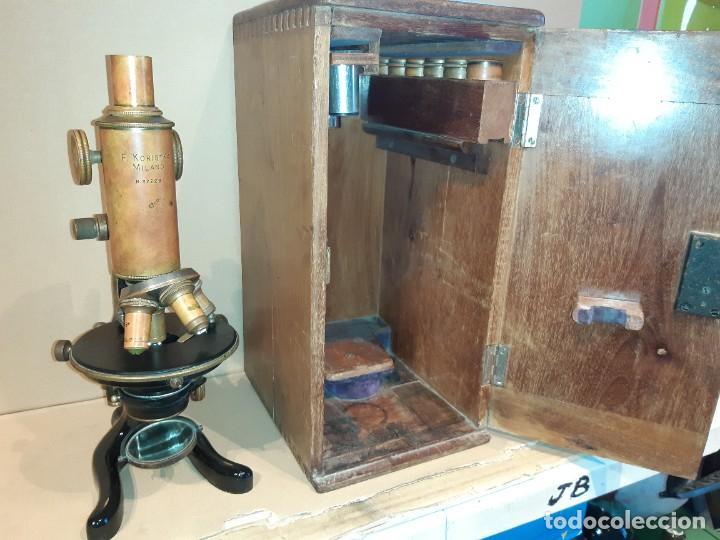 Antigüedades: Antiguo microscopio científico - Foto 19 - 247589290