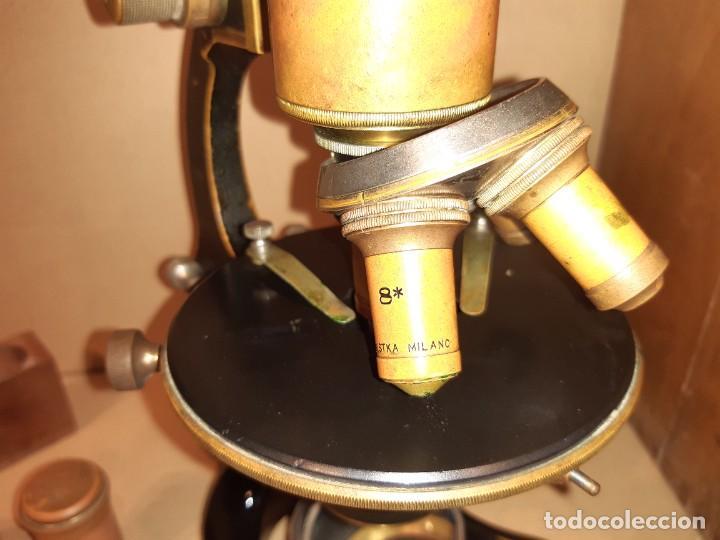 Antigüedades: Antiguo microscopio científico - Foto 20 - 247589290