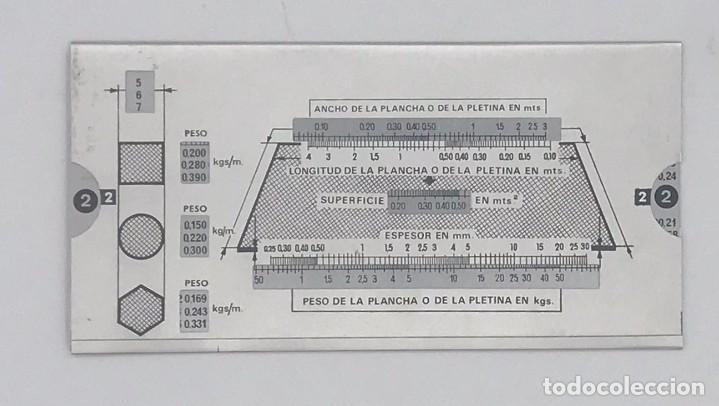 Antigüedades: ANTIGUA REGLA CALCULADORA DE ALUMINIO DE CIZALLAS INCA - Foto 4 - 247692410