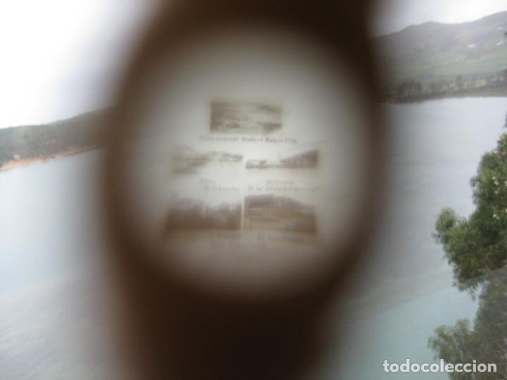 Antigüedades: PRECIOSO ALFILETERO FORMA DE PARAGUAS DE HUESO STANHOPE CON VISTAS DE SAN SEBASTIAN EN PERFECTO ESTA - Foto 6 - 247741405