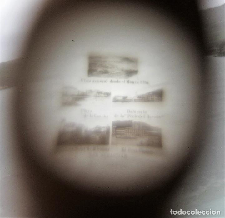 Antigüedades: PRECIOSO ALFILETERO FORMA DE PARAGUAS DE HUESO STANHOPE CON VISTAS DE SAN SEBASTIAN EN PERFECTO ESTA - Foto 7 - 247741405