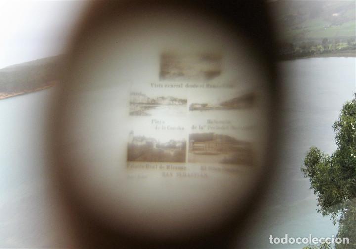 Antigüedades: PRECIOSO ALFILETERO FORMA DE PARAGUAS DE HUESO STANHOPE CON VISTAS DE SAN SEBASTIAN EN PERFECTO ESTA - Foto 8 - 247741405