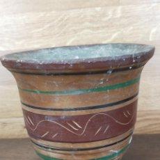 Antigüedades: JARRON DECORACION EN BARRO. Lote 247763120