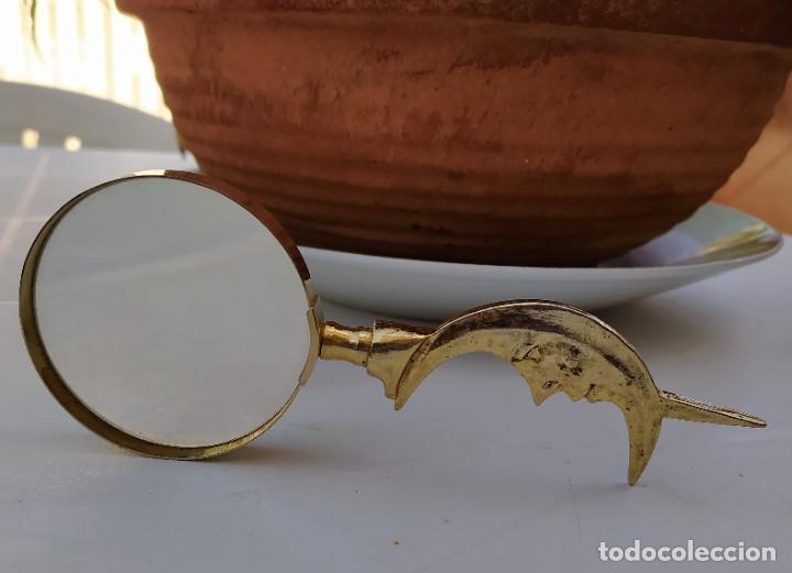 LUPA DE LATÓN ANTIGUA (Antigüedades - Técnicas - Instrumentos Ópticos - Lupas Antiguas)