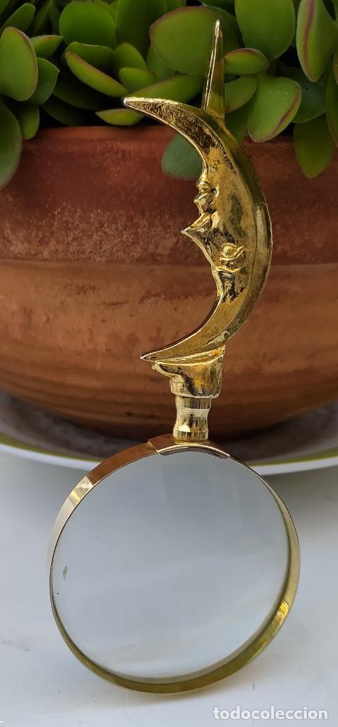 Antigüedades: LUPA DE LATÓN ANTIGUA - Foto 3 - 248157535