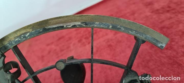Antigüedades: SEXTANTE. E. LOVREUX. SUCC. DE SCHWARTZ. PARIS Nº 534. BRONCE. SIGLO XIX. - Foto 11 - 248193710