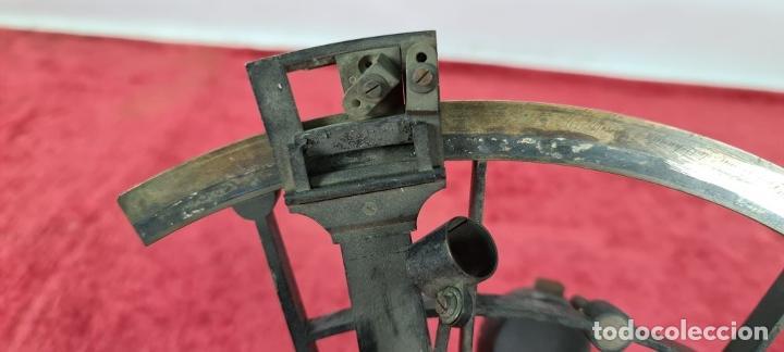Antigüedades: SEXTANTE. E. LOVREUX. SUCC. DE SCHWARTZ. PARIS Nº 534. BRONCE. SIGLO XIX. - Foto 12 - 248193710