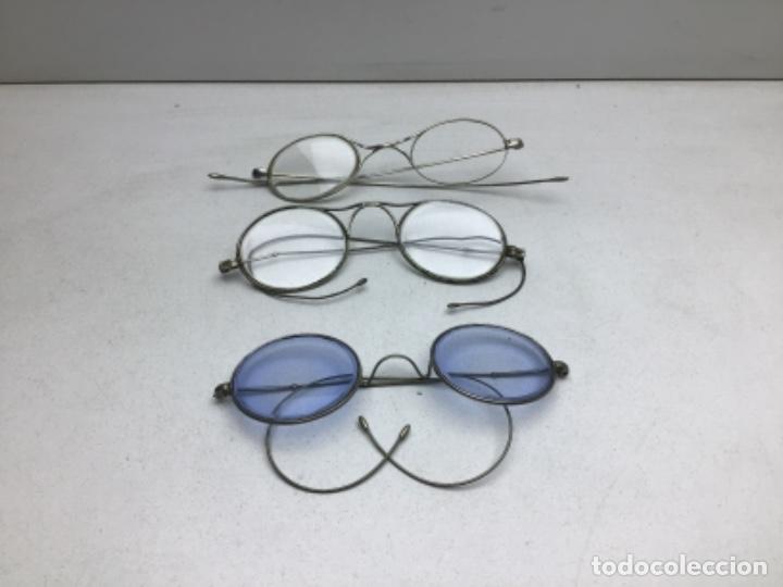 LOTE DE GAFAS ANTIGUAS TIPO QUEVEDO (Antigüedades - Técnicas - Instrumentos Ópticos - Gafas Antiguas)