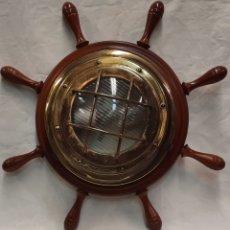 Antigüedades: OJO DE BUEY APLIQUE NAUTICO EN FORMA DE TIMON. Lote 248250735