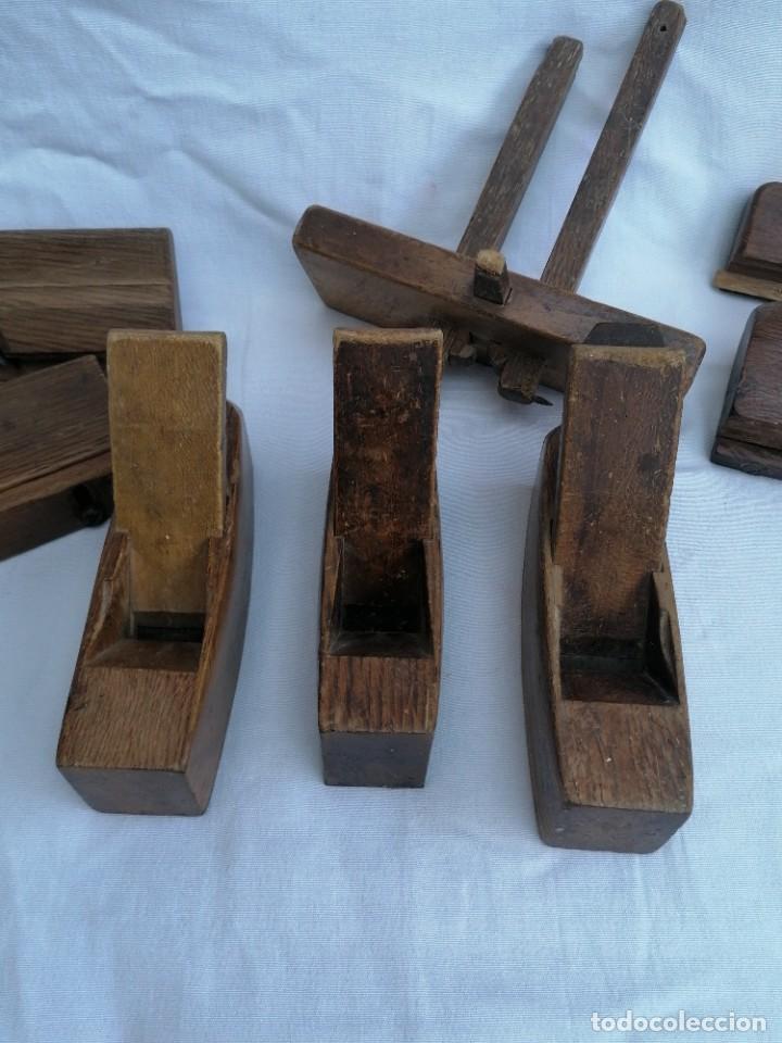 Antigüedades: Gran lote de Garlopas y guia carpinteria - Foto 2 - 248422930