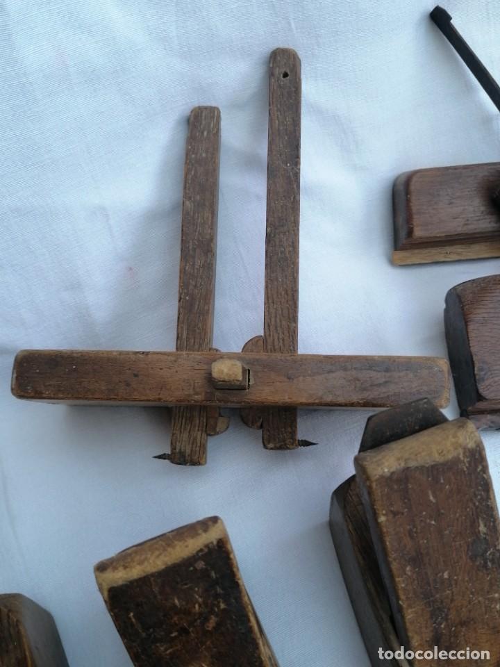 Antigüedades: Gran lote de Garlopas y guia carpinteria - Foto 3 - 248422930