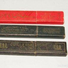 Antigüedades: ANTIGUOS ESTUCHES VACÍOS DE NAVAJAS DE AFEITAR. Lote 248566445