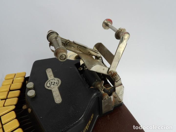 Antigüedades: Máquinade escribir Steonotipe marca GRANDJEAN, fafricada en Francia el años 40/50 y número 19252. Co - Foto 9 - 248708205