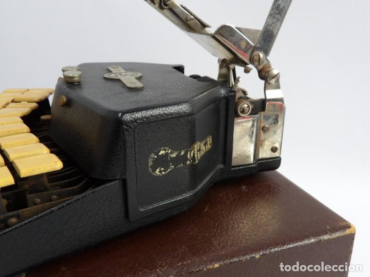 Antigüedades: Máquinade escribir Steonotipe marca GRANDJEAN, fafricada en Francia el años 40/50 y número 19252. Co - Foto 10 - 248708205