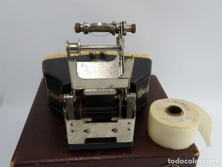 Antigüedades: Máquinade escribir Steonotipe marca GRANDJEAN, fafricada en Francia el años 40/50 y número 19252. Co - Foto 11 - 248708205